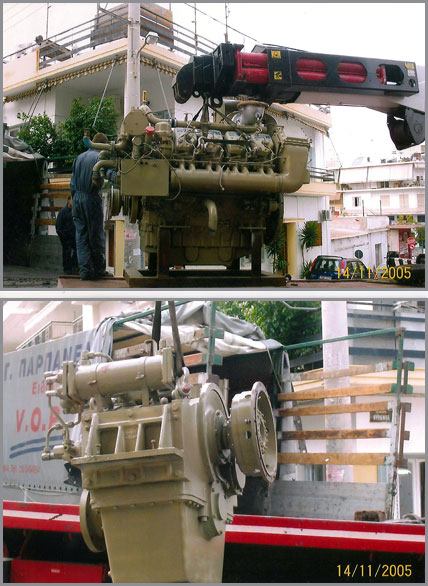 Marine engines, ship engines, spare parts trading, spare